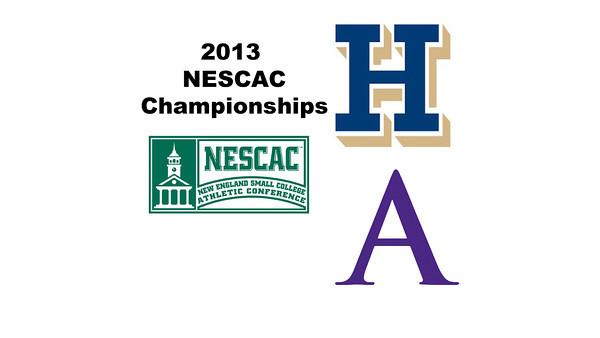 2013 NESCAC Championships: Chandler Lusardi (Amherst) and Amanda Thorman (Hamilton)