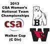 2013 Women's College Squash Association National Team Championships: Monica Wlodarczyk (Bowdoin) and Ellen Schwed (Wesleyan)