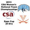 2013 Women's College Squash Association National Team Championships: Amara Warren (Virginia) and Dorothy Kim (Johns Hopkins)