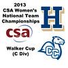 2013 Women's College Squash Association National Team Championships: Hilary Gray (Hamilton) and Leah Puklin (Conn College)