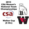 2013 Women's College Squash Association National Team Championships: Bonnie Cao (Bowdoin) and Claire Miller (Wesleyan)
