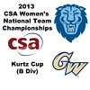 2013 Women's College Squash Association National Team Championships: Skylar Dickey (Columbia) and Maya Nair (George Washington)
