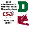 2013 Women's College Squash Association National Team Championships: Corey Schafer (Dartmouth) and Nessrine Ariffin (Bates)