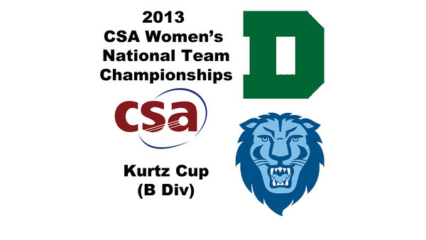 2013 Women's College Squash Association National Team Championships: Oona Morris (Dartmouth) and Diya Kumar (Columbia)