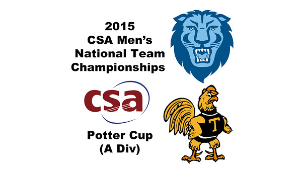 2015 MCSA Team Championships -  Potter Cup: Rick Penders (Trinity) and Rishi Tandon (Columbia)
