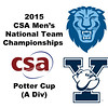 2015 MCSA Team Championships -  Potter Cup: Rishi Tandon (Columbia) and Liam McClintock (Yale)