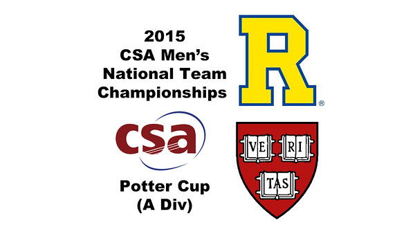 2015 MCSA Team Championships -  Potter Cup: Devin McLaughlin (Harvard) and Michelangelo Bertocchi (Rochester)