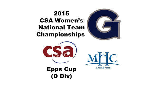2015 WCSA Team Championships - Epps Cup: Allison Shilling (Mount Holyoke) and Libby Scattergood (Georgetown)