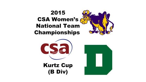 2015 WCSA Team Championships - Kurtz Cup: Hayley Parsons (Williams) and Victoria Dewey (Dartmouth)