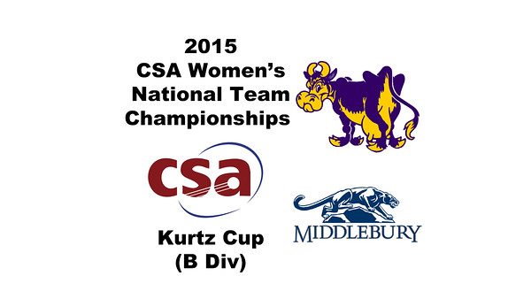 2015 WCSA Team Championships - Kurtz Cup: Caroline Sawin (Williams) and Liddy Renner (Middlebury)