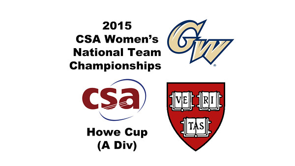 2015 WCSA Team Championships - Howe Cup: Dileas MacGowan (Harvard) and Mary Jo Mahfood (GWU)