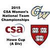2015 WCSA Team Championships - Howe Cup: Dileas MacGowan (Harvard) and Mary Jo Mahfood (GWU)