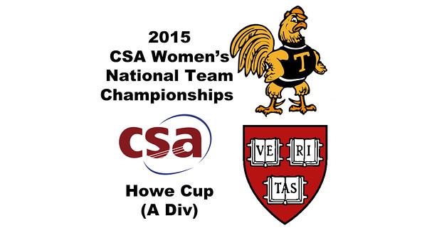 2015 WCSA Team Championships - Howe Cup: Alyssa Mehta (Harvard) and Anna Kimberley (Trinity)