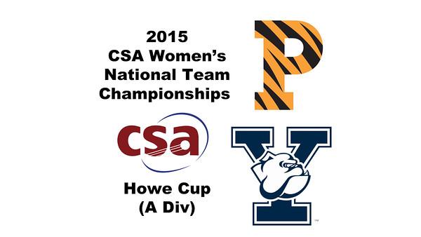 2015 WCSA Team Championships - Howe Cup: Maria Elena Ubina (Princeton) and Shihui Mao (Yale)