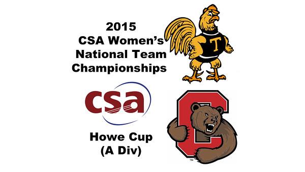 2015 WCSA Team Championships - Howe Cup: Anna Kimberley (Trinity) and Rachel Scherman (Cornell)