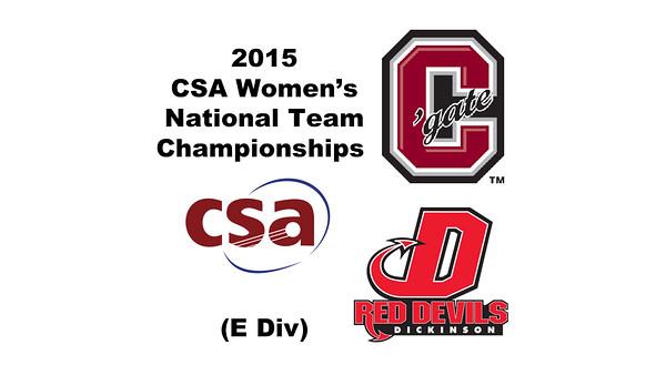 2015 WCSA Team Championships - E Division: Meagan Dashcund (Dickinson) and Courtney McGill (Colgate)