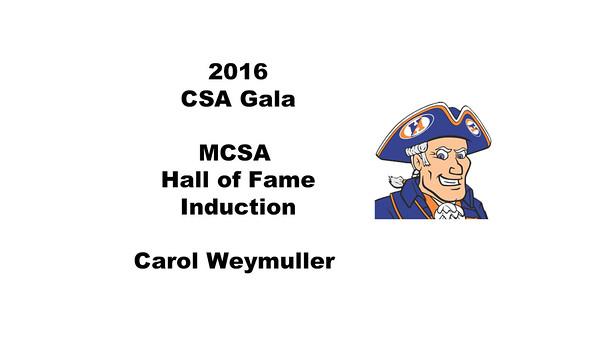 MCSA Hall of Fame Induction - Carol Weymuller