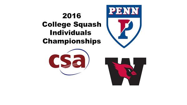 2016 CSA Individual Championships - Ramsay Cup: Reeham Sedky (Penn) and Laila Samy (Wesleyan) - Game 1