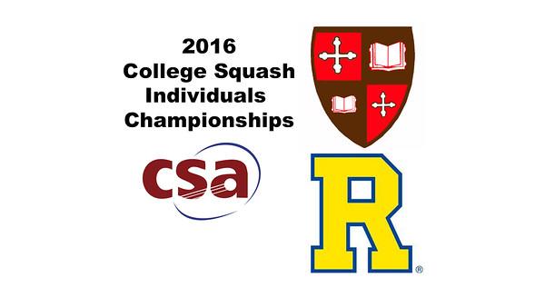 2016 CSA Individual Championships - Pool Trophy: Amr Khaled Khalifa (St. Lawrence) and Ryosei Kobayashi (Rochester)