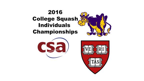 2016 CSA Individual Championships - Holleran Cup: Dileas MacGowan (Harvard) and Hayley Parsons (Williams)