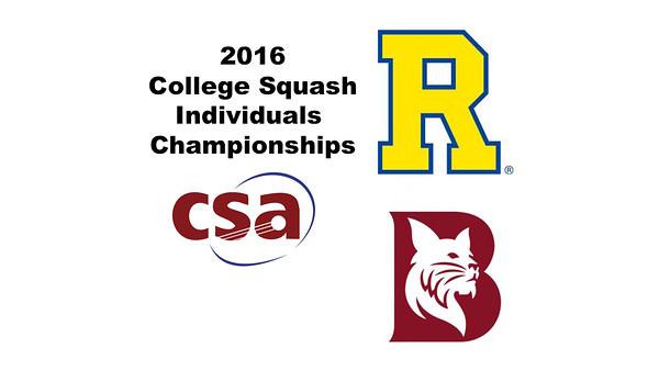 2016 CSA Individual Championships - Pool Trophy: Ahmed Abdel Khalek (Bates) and Ryosei Kobayashi (Rochester) - Game 2