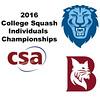 2016 CSA Individual Championships - Pool Trophy: Osama Khalifa (Columbia) and Ahmed Hatata (Bates)