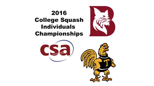 2016 CSA Individual Championships - Pool Trophy: Ahmed Abdel Khalek (Bates) and Rick Penders (Trinity) - Game 1