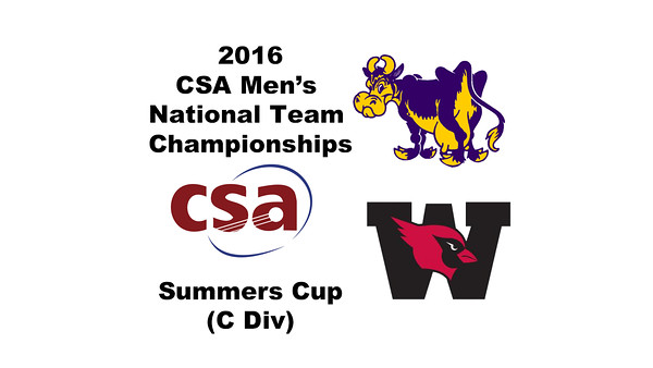 2016 CSA Team Championships -  Summers Cup: John Fitzgerald (Williams) and Raheem Logan (Wesleyan)