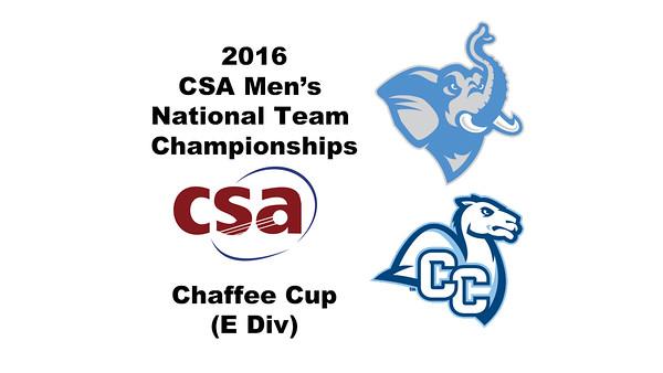 2016 CSA Team Championships -  Chaffee Cup: Brett Raskopf (Tufts) and Santiago Moran (Conn College)