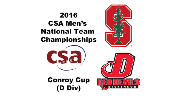 2016 CSA Team Championships -  Conroy Cup: Andrew Strudwick (Dickinson) and Matthew Stevens (Stanford)