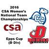 2016 CSA Team Championships -  Epps Cup: Sarah Clothier (Dickinson) and Nina Nalle (Conn College)