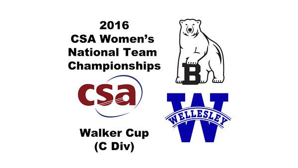 2016 CSA Team Championships - Walker Cup: Kate Loftus (Wellesley) and Zoe Wood (Bowdoin)