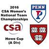2016 CSA Team Championships -  Howe Cup: Kayley Leonard (Harvard) and Anaka Alankamony (Penn)