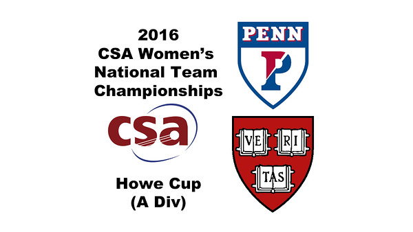 2016 CSA Team Championships -  Howe Cup: Award Ceremony