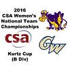 2016 CSA Team Championships -  Kurtz Cup: Charlotte Walsh (Williams) and Brooke Feldman (George Washington)