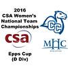 2016 CSA Team Championships - Epps Cup: Mawa Ballo (Conn College) and Allison Shilling (Mount Holyoke)