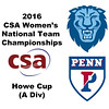 2016 CSA Team Championships -  Howe Cup: Michelle Wong (Penn) and Catherine Jenkins (Columbia)