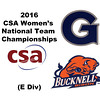 2016 CSA Team Championships -  E Division: Alessandra Ruggiero (Georgetown) and Eleanor Stout (Bucknell)