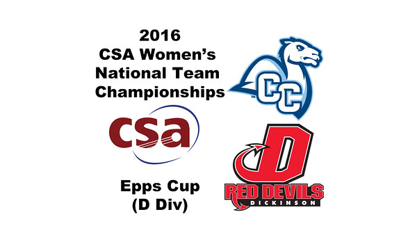 2016 CSA Team Championships -  Epps Cup: Nicole DeLuca (Dickinson) and Mawa Ballo (Conn College)