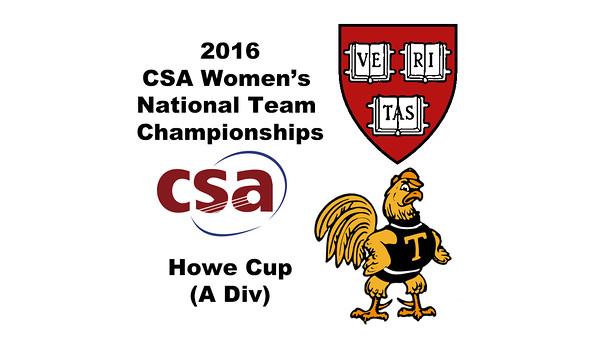 2016 CSA Team Championships -  Howe Cup: Dileas MacGowan (Harvard) and Alexia Echeverria (Trinity)