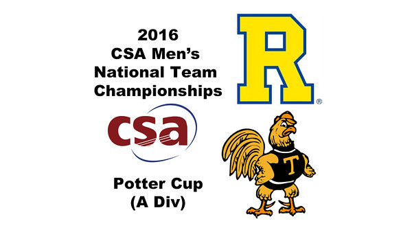 2016 CSA Team Championships -  Potter Cup: Tomotaka Endo (Rochester) and Tom De Mulder (Trinity)