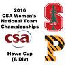 2016 CSA Team Championships -  Howe Cup: Maria Elena Ubina (Princeton) and Zandra Ho (Stanford)
