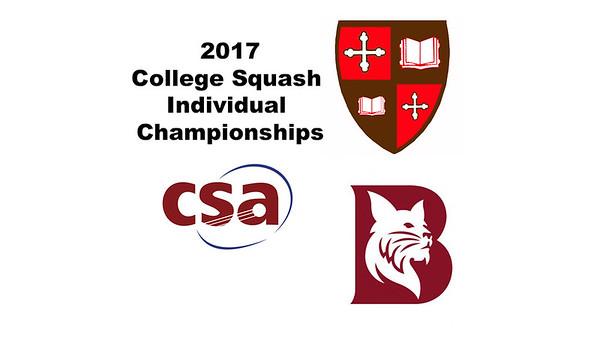 2017 CSA Individual Championships - Holleran Cup: Victoria Arjoon (Bates) and Zoe Kagan (St. Lawrence)
