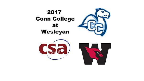 2017 Conn College at Wesleyan: Natasha Feenstra (Wesleyan) andDavis Lemay