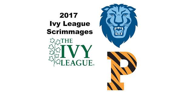 2017 Ivy League Scrimmages: Doria Chen (Columbia) and Emme Leonard (Princeton)