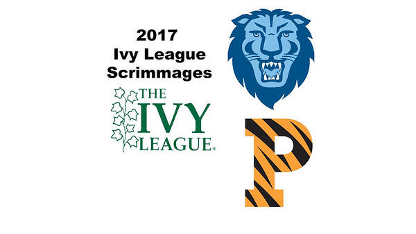 2017 Ivy League Scrimmages: Madison Soukup (Princeton) and Julia Masch (Columbia)