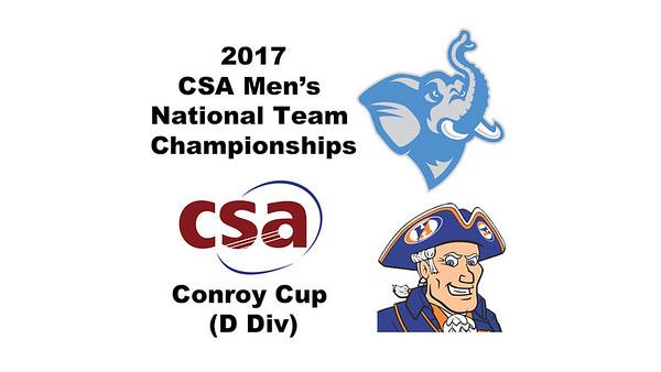 2017 MCSA Team Championships - Conroy Cup: Josh Oakley (Hobart) and Alan Litman (Tufts)