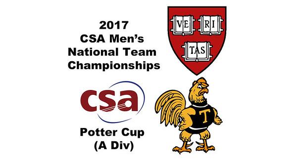 2017 MCSA Team Championships - Potter Cup: Saadeldin Abouaish (Harvard) and Kush Kumar (Trinity)