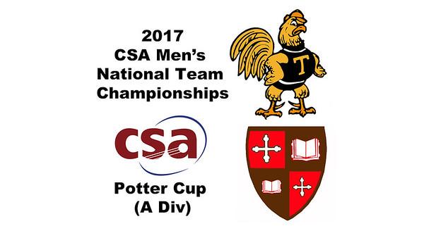 2017 MCSA Team Championships - Potter Cup: Belal Nawar (St. Lawrence) and Tom De Mulder (Trinity)