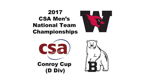 2017 MCSA Team Championships - Conroy Cup: Christopher Hart (Weslyan) and Ian Squiers (Bowdoin)